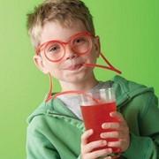 Трубочка для коктейля в виде очков фото