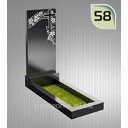 Надгробие вертикальное модель 58 фото
