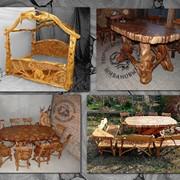 Мебель из можжевельника. фото