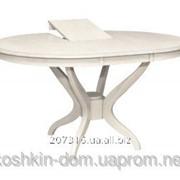 Стол обеденный Доминика крем 1м раскладной из натурального дерева фото