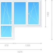Блок комбинированный - окно двустворчатое, балконная дверь фото