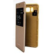 Чехол-книжка для Samsung Galaxy Alpha. золотой фото