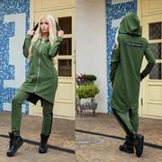 Женский стильный , очень качественный костюм из материала двухнитка , со вставками контрастного цвета фото