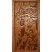 Двери кедровые фото