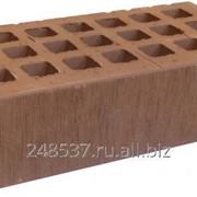 Кирпич облицовочный какао одинарный шероховатый М-150 Саранск фото