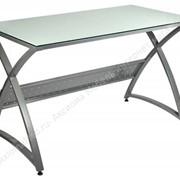 Компьютерный стеклянный стол OMEGA-120/WHITE фото