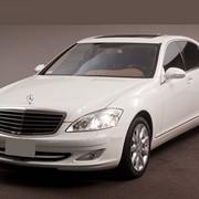 Прокат Mercedes-Benz S 500 Long, W 221 белого цвета фото