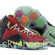 Кроссовки Nike LeBron XII 12 Red Green Elite Series 40-46 Код LBXII13 фото