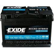 Аккумуляторы EXIDE EK700 фото