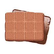 Печенье сахарное Двойной Шоколад с глазированным дном весовое фото