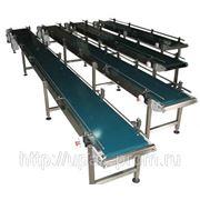 Конвейерные системы. Пластинчатые и ленточные транспортеры. фото