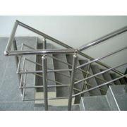 Ограждения лестничные с ригельным заполнением (тетивой) фото
