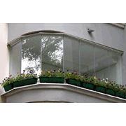 Остекление балконов безрамное фото