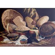 Хлеб из целого пророщенного зерна пшеницы Довольство фото