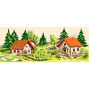 Канва с рисунком ЧРк-S20 20*50 см Хутор в лесу фото