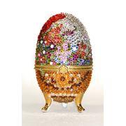 Яйцо-шкатулка хрустальная 7 фото