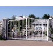 ворота перила решетки заборы двери садово-парковая мебель фото