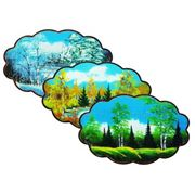 """Панно на фанере """"Облачко"""" № 4 (10*290*470*мм.) Натуральные дробленные камни фото"""