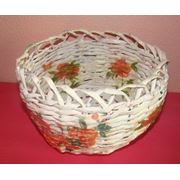 Плетёные шкатулки вазы башмачки корзинки фото