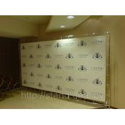 Мобильный стенд Press Metal Wall (хромированные трубы + банер) фото