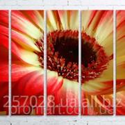 Модульна картина на полотні Червоно-жовта квітка код КМ100150(150)-097 фото