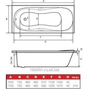 Акриловая ванна HusKarl Bjorn New 170х75 см без ручек