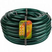 Шланг поливочный 3/4 (25м) армированный, черно-зеленый, непрозрачный фото