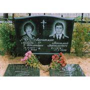 Памятники из гранита Образец формы 23А выполнен в размере 100/60/8 с двумя надгробными плитами 100/50/5 фото