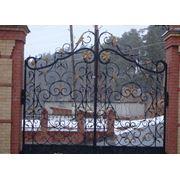 Кованые ворота фото