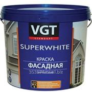 Краска ВГТ ВД-АК-1180 фасадная Супербелая, 7кг фото