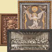 Иконы в киоте с окладом (Венчальные пары Ангел Хранитель) фото