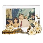 Фоторамка с ромашками хрустальная подарочная для фото 13 х 18 фото