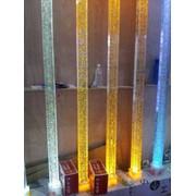 Стеклянные Колонны, столбы с пузырьками и без, с лазерным 3D узором фото