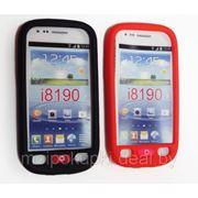 Силиконовый чехол для Samsung GT-I8190 Galaxy S III mini красный и чёрный фото