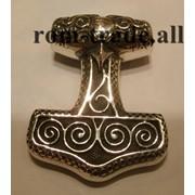 Молот Тора из серебра на заказ фото