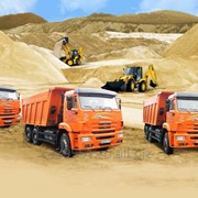 Песок строительный фото