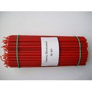Красные восковые свечи № 80 фото