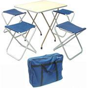 """Комплект """"Отдых"""" стол и 4 складных стула фото"""