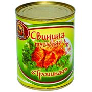 Свинина тушеная Троицкая ж/б фото