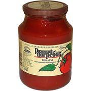 Томаты консервированные неочищенные в томатном соке фото