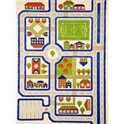 "Детский 3D ковер ""Трафик"" голубой, 160х230см (IVI) фото"