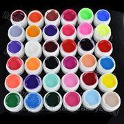 36 баночек цветных УФ гелей UV гели фото