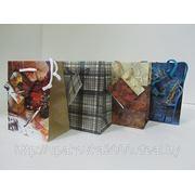 """Пакет подарочный малый """"мужской"""" 11 х 14 х 6 см, 12 шт/уп фото"""