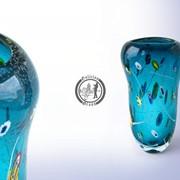 Функционально-декоративная ваза из стекла, ручной работы. Артикул 0304_4 фото