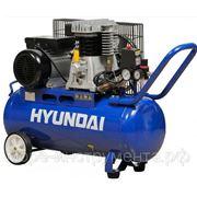 Компрессор Hyundai HY 2575, ременной, 3.0 л.с., 8 атм., объём ресивера 70 л, max произв.-ть 400 л/мин. фото