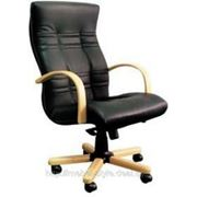 Кресло АМБАССДОР дерево для руководителя, офиса и дома, AMBASSADOR Extra в коже SP фото