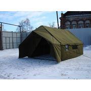 Палатка четырехместная парусиновая с полом полевая 4ПП-10 фото