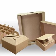 Упаковка из бумаги и картона. фото