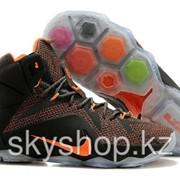 Кроссовки Nike LeBron XII 12 Dark Grey Orange Elite Series 40-46 Код LBXII12 фото