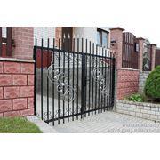 Ворота металлические распашные VK004
